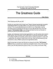 The Greatness Guide Full Pdf