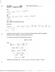 integration by parts notes