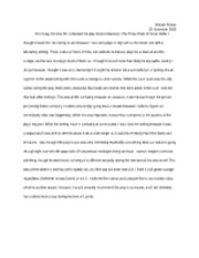 UNIV 101 Gross Indecency Play Reflection Paper