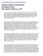 The Battle of Plassey, 1757