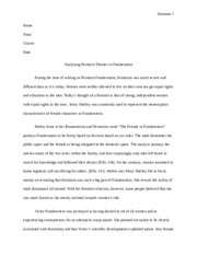 Analyzing Feminist Themes in Frankenstein essay.doc