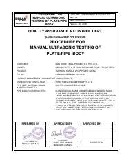 LSAW-FUT pdf - STEEL LSAW PLANT PROCEDURE FOR FINAL ULTRASONIC