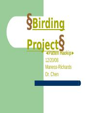 Birding Project-- PowerPoint.ppt