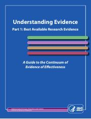 R4. Understanding Evidence - Best Available Research Evidence (1)