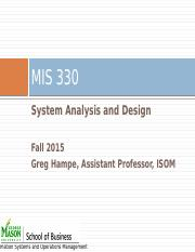 MIS 330 Fall Final Exam Review Slides