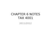 CHAPTER 6 Notes