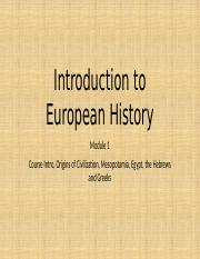1-Introduction to European History
