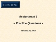 Assignment 1 - Answers