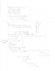 Class Notes - Chapter 1.6 and Sign multiplication, Division
