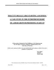dissertation entrepreneurship