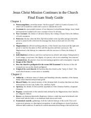 Theology study guide
