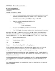 MGMT 102- Case Assignment 1
