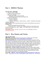 Chang MMW2 Final Study Guide