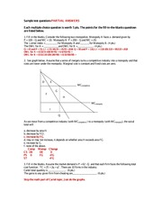 Econ170 sample exam questions PARTIAL ANSWERS