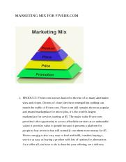 MARKETING MIX FOR FIVERR