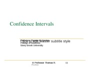 Chapter 8b Confidence Intervals