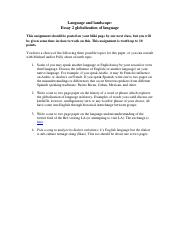 Essay 2 globalization in language