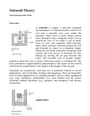 Lecture 13-Solenoid Theory