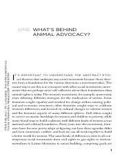 Animal advocacy chapter 1