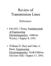 transmission line lecture