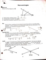 rays and angles notes