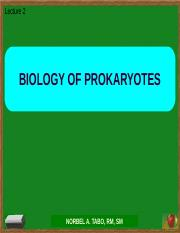 Lecture2 Biology of the prokaryote.pptx