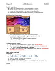 15 - Acid-Base Regulation -