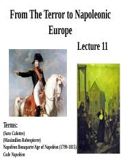 History 101 Lecture 11