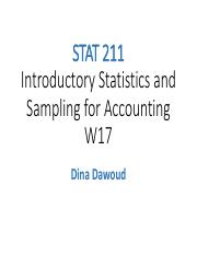 STAT 211 W17 Lectures Slides Chaps 1-3