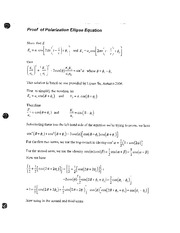 Polarization ellipse proof