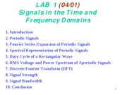 1b Signals in time and frequency domain