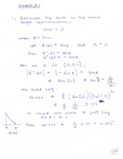 MAT 1341 Angle Approximation - Error Notes