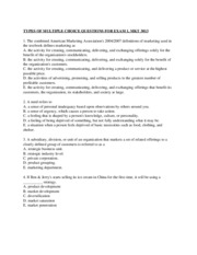 Sample Exam 1 Questions UTSA MKT 3013 Fall 2015.docx