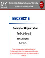 Chapter 0 Pdf Computer Organization And Design The Hardware Software Interface Eecs2021e Computer Organization Amir Ashouri York University Fall 2019 Course Hero
