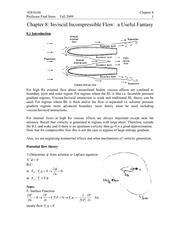 Chapter 8 Lecture on Inviscid Incompressible Flow