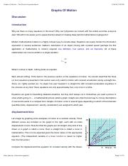 graphs of motion the physics hypertextbook graphs of motion the