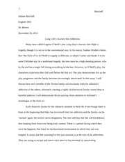 Final Essay - Final Draft - Long Day's Journey Into Night