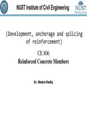 Lec 5 CE 806 RCM Development, anchorage and splicing of reinforcement (1).pdf