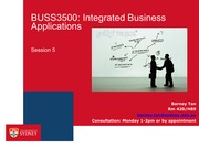 BUSS3500 Session 5