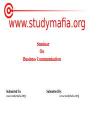 MBA  Business Communication PPT