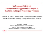 1 - Overview and entrepreneurs and strategic decisions