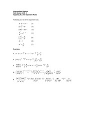 Math 1094 Applying ALL the Exponent Rules notes
