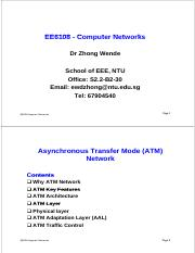 EE6108 ATM Network