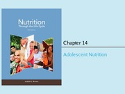 Chapter 14 & 15 (Adolescent Nutrition)