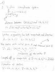 Notes9_sept30_vectors, dot product, cross product, equation of lines and planes