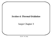 Section 4 - Thermal Oxidation
