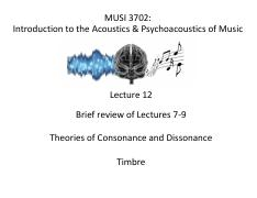 Lecture 12 (MUSI 3702) - Theories of Cons  Diss - Timbre