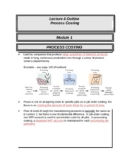 ACCT 226 online lecture #4 filled out (Prof Fergusson) - Process Costing