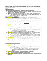 Chp. 3 Legal, Technological, Accounting, _ Polictical Environments.docx