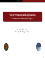 14 Vector Operations and Applications (1)